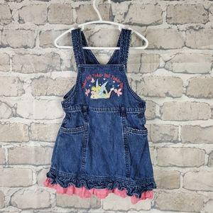 Disney Fairies Denim Dress Size 3X Tinkerbell